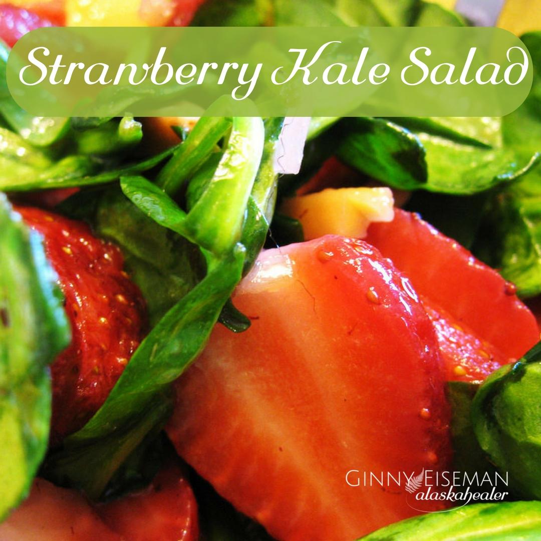 strawberry kale salad alaskahealer.com